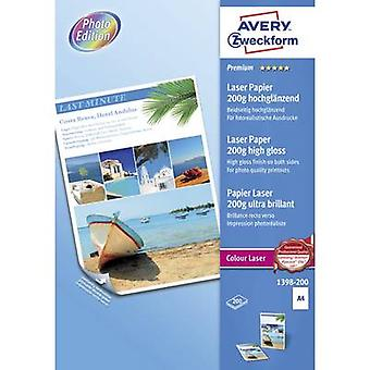 Avery-Zweckform Premium Laser Paper 200g high gloss 1398-200 Laser printer paper A4 200 g/m² 200 sheet White