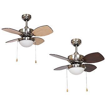 Decke Ventilator Kuschelanwendungen Nickel LED-71 cm/28