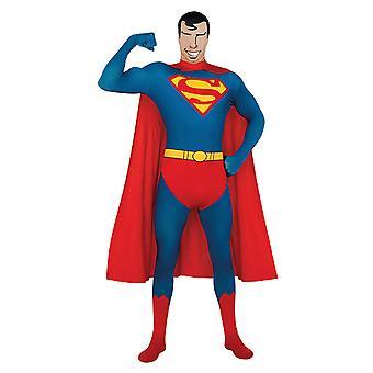 2. bőr Superman teljes test suit második bőr jelmez felnőtteknek