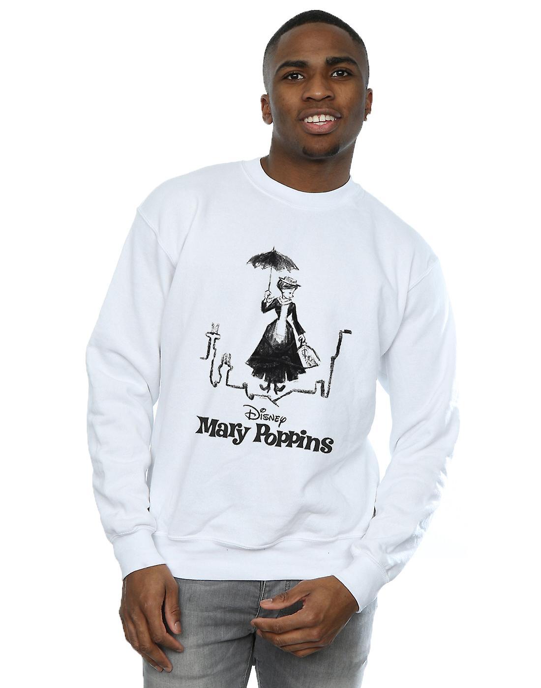 Disney Men's Mary Poppins Rooftop Landing Sweatshirt