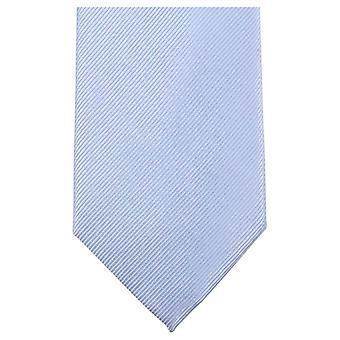 Knightsbridge halsdukar oformaterad Diagonal ribbad Tie - ljusblå