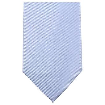 Knightsbridge Neckwear Plain Diagonal Ribbed Tie - Light Blue