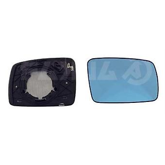 Right Blue Mirror Glass (Heated) & Holder For RANGE ROVER mk3 2002-2010