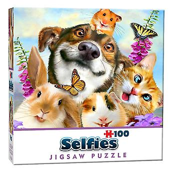 Pets Selfie Mini  Jigsaw Puzzle (100 Pieces)