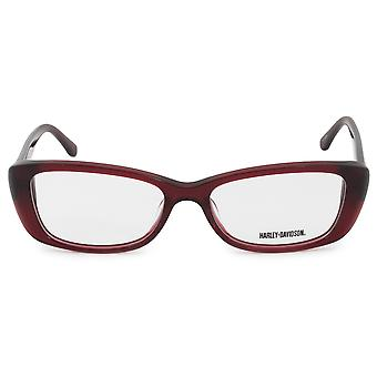 Harley Davidson Cat Eye Eyeglasses Frames HD0521 RD 53