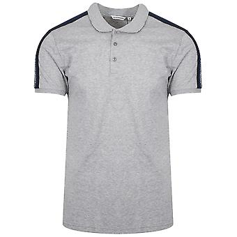 Antony Morato Sport Grey Shoulder Taped Polo Shirt