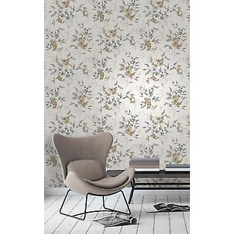 Elegant Sparkle Blossom Natural Stone Wallpaper Wall Decoration 0.52m x 10.05m