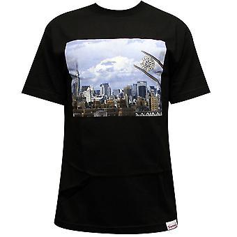 Camiseta de diamante diamante fuente Co NY negro