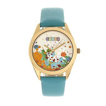 Crayo graffiti Unisex Watch-kulta/jauhe sininen
