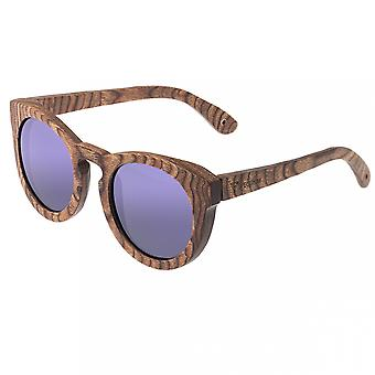Spectrum Flores Wood Polarized Sunglasses -Brown/Purple