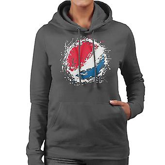 Pepsi Paint Splash Logo Women's Hooded Sweatshirt