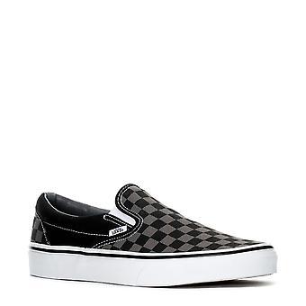 Vans Classic Slip-On Black/Pewter Check - Vn000eyebpj - chaussures