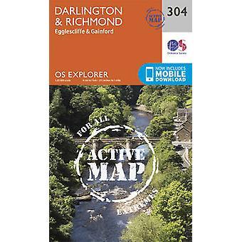 Darlington and Richmond (September 2015 ed) by Ordnance Survey - 9780