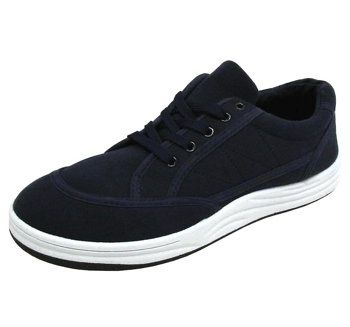 BXT Urban Men's Casual Fashion Canvas Trainers Navy