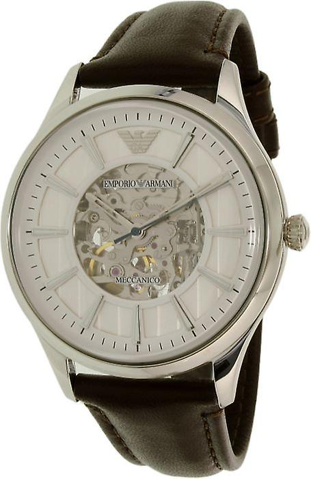 Emporio Armani Ar1946 Brown Leather Automatic Men's Watch
