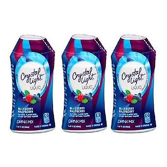 Crystal Light mirtillo lampone liquido bevanda mix 3 bottle Pack