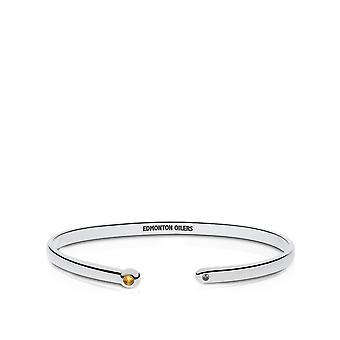 Edmonton Oilers Light Citrine Cuff Bracelet In Sterling Silver Design by BIXLER