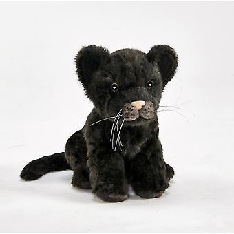 Hansa Plush Black Jaguar cub
