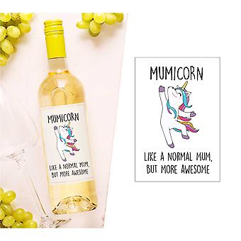 Mumicorn sticla de vin Label