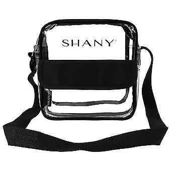 SHANY واضحة لجميع الأغراض عبر الجسم حقيبة رسول - ملعب وافق على حمل وماكياج الناقل مع حزام الكتف قابل للتعديل