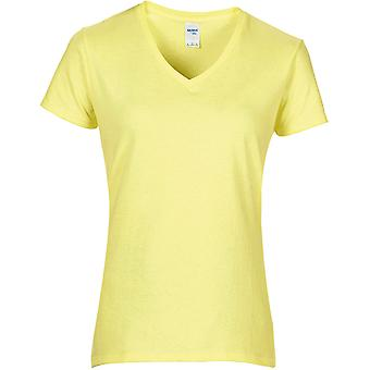 Gildan-T-shirt til kvinder med V-udskæring i bomuld med damer