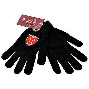 Вест Хэм Юнайтед ФК Мужские вязаные футболу гребень дизайн перчатки