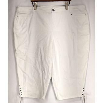 Estilo & Co. Plus jeans barriga controle Capri jeans branco Womens
