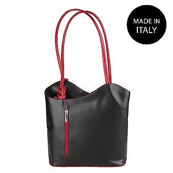 Läder axelväska tillverkad i Italien 9039
