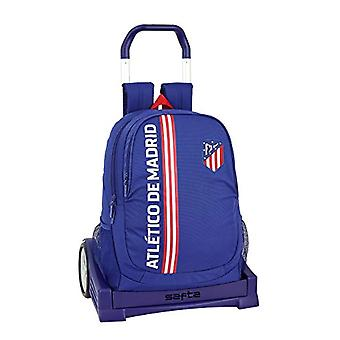 Atl?tico Madrid'in Blue' Officer backpack ergonomic back with safta Evolution trolley