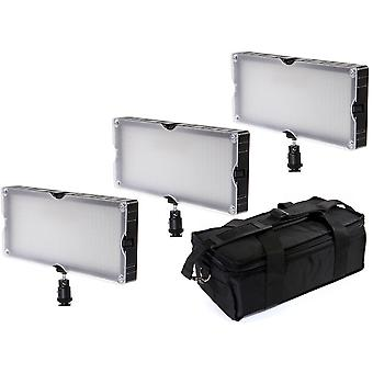 BRESSER SL-360 LED Surface lights set van 3
