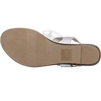 Material Girl Womens Swan Glitter Thong Sandals White, White Glitter, Size 9.5