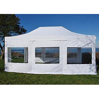 Pop up lysthus FleXtents Xtreme 4x6 m hvit, flammehemmende, inkl. 8 sidevegger