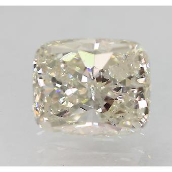 Certificado 1.01 quilates G VVS2 forma de cojín diamante natural mejorado 6.51x5.38mm