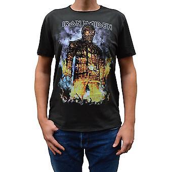 Zosilnený Iron Maiden Prútený muž uhlia posádky krku T-shirt