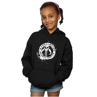 Star Wars Girls The Mandalorian Bounty Hunter Splatter Skull Hoodie