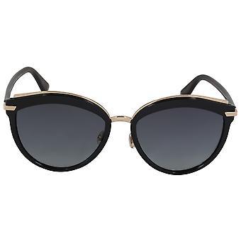 Christian Dior offset aurinko lasit WR786 57 | Musta runko | Harmaa kaltevuus linssit