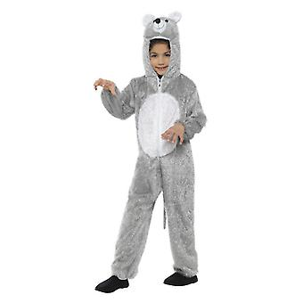 Childrens Grey Mouse Fancy Dress Costume