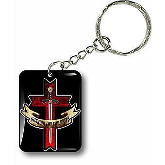Porte Cles Clefs Keychain Voiture Moto Drapeau Templier Knights Templar Sceau R5
