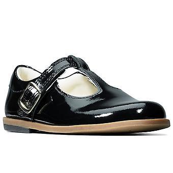 كلاركس درو شاين براءة اختراع تي بار بنات الأحذية الأولى