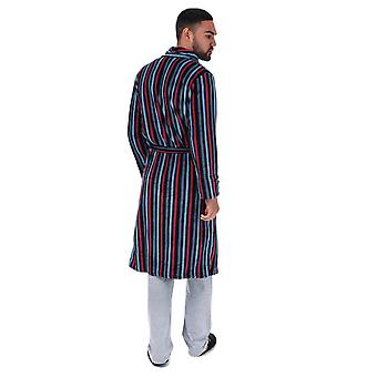 Mens Ben Sherman Becker Striped Dressing Gown- Stripe Detail Throughout- Shawl
