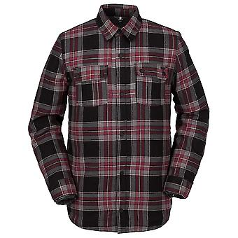 Volcom Sherpa Flannel Jacket in Red
