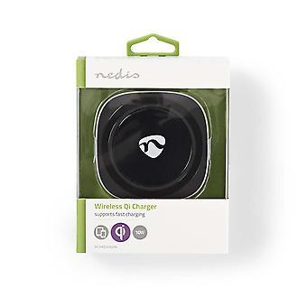 Nedis Wireless Qi-Fast Charger 10W 2.0 a USB alimentato per oPhone 8, X, XS, XS Max, Samsung Galaxy S3-S8, Asus Nexus 7