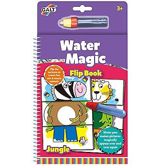 Galt - Water Magic, Jungle Flip Book - Re-usable Colouring Book