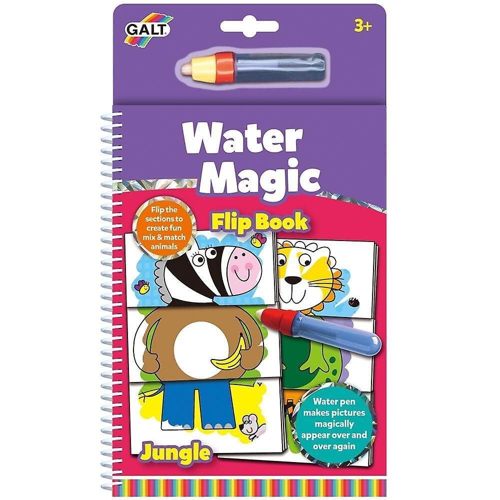 Galt - Water Magic, Jungle Flip Book - Re-usable Colouring Book