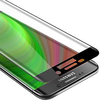 Cadorabo Vollbild Panzer Folie für Samsung Galaxy S6 EDGE  - Gehärtetes (Tempered) Display-Schutzglas in 9H Härte mit 3D Touch Kompatibilität