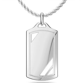 White On White Fashion Pendant Necklace In Sterling Silver