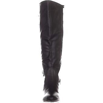 RIALTO Cahoon Knee High Boots, Black Smooth