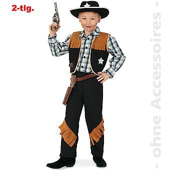 Sherif kostume børn passe vilde Vesten vestlige Arizona cowboy barn kostume
