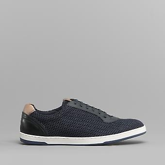 Base London Hustle mens mesh trenere Navy