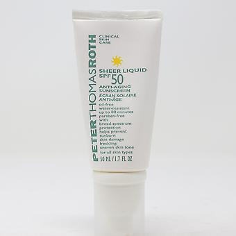 Peter Thomas Roth Sheer Liquid Spf 50 Anti-Aging Sunscreen  1.7oz/50ml New